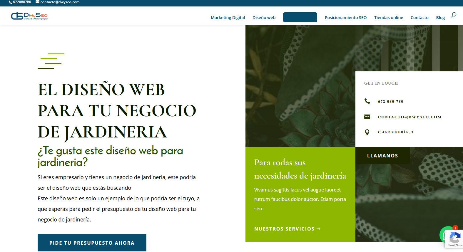 Diseño web para barberias